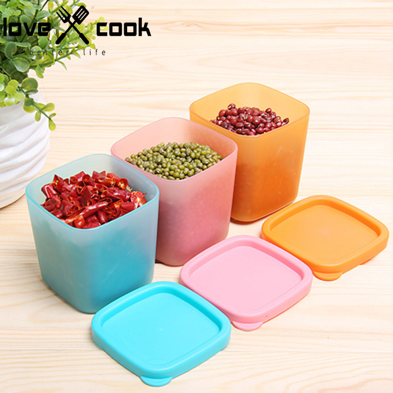 Food Grade Plastic Grain Storage Container Dried Food Cereal Storage Box  Dispenser Rice Container Box Food Holder Kitchen Tools In Storage Bottles U0026  Jars ...