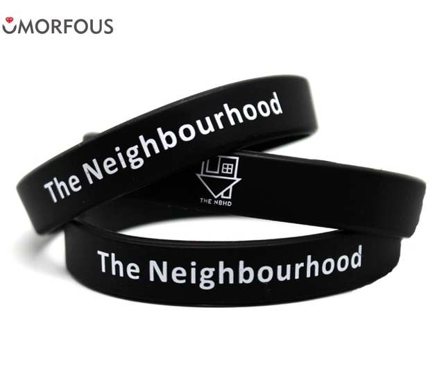 1pc Fashion Rock Band Fans The Neighbourhood Silicone Wristband Bracelets Gift To Friend