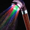 2016 Новый Высокое Качество 7 Цветов Изменение Светодиодный душ Турмалин SPA анион Ручной Ванной Светодиодная Насадка для душа Фильтр Ручной Душ Sav