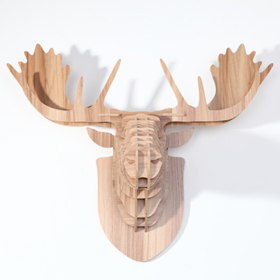 nodic reindeer head for wall decorationwooden animals home decorationwood craftschristmas decormoose head for decoration in statues sculptures from - Christmas Moose Home Decor