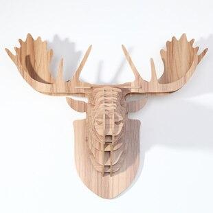 NODIC cabeça da Rena para decoração de parede, animais de madeira decoração da casa, artesanato em madeira, decoração de natal, cabeça de alce para a decoração