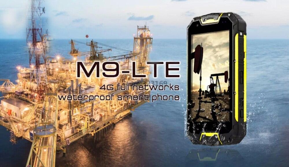 מקורי M9 אנדרואיד 5.1 2GB RAM 13.0 mp מצלמה Quad Core מחוספס עמיד למים טלפון 4GTD LTE GSM CDMA החכם מטען אלחוטי