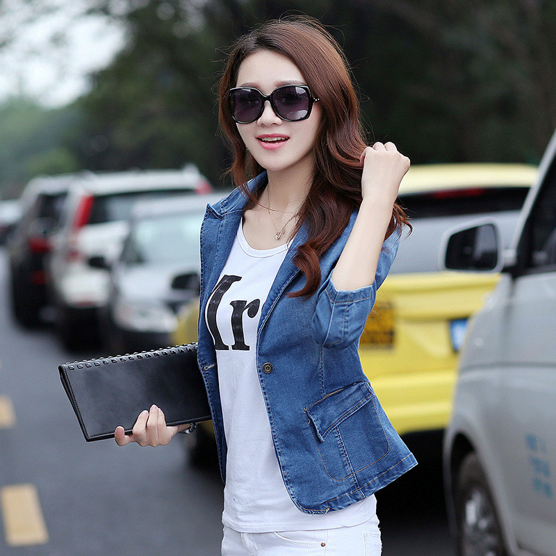 Short Jeans Jacket New Korean Version Skinny Jeans Women's Jacket