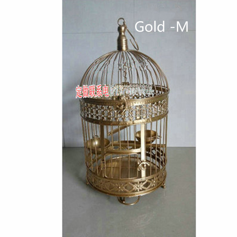The New Metallic iron Antique Decorative Wedding Birdcage Decoration Bird Cage  Hanging bottom tray