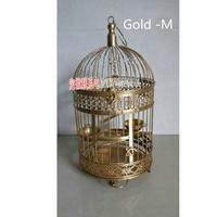 The New Metallic iron Antique Decorative Wedding Birdcage Wedding Decoration Bird Cage Hanging bottom tray