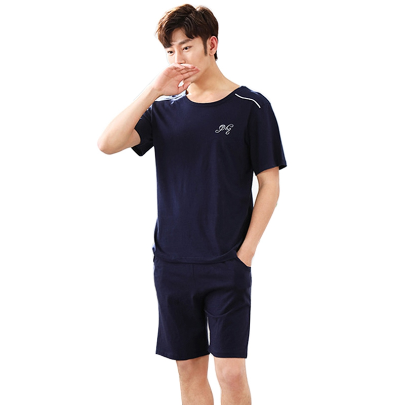Summer Pajamas Sets Men Women Cotton Pyjamas Short Sleeve Couple Sleepwear Pajama