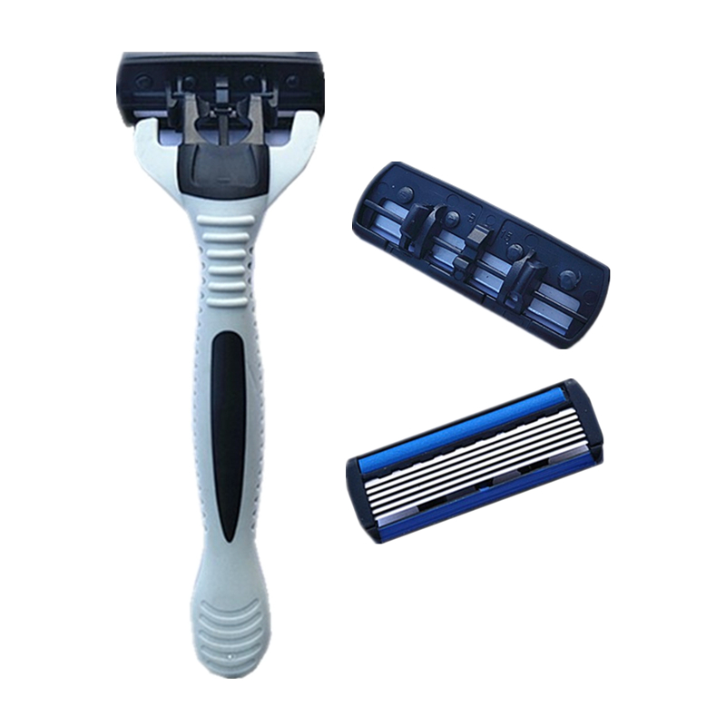Original 7pcs/set 1 Machine +6 Blades Best Shaving For Men's Replaceable Razor Blades Hot Shaver Standard Russia Eu&us #3