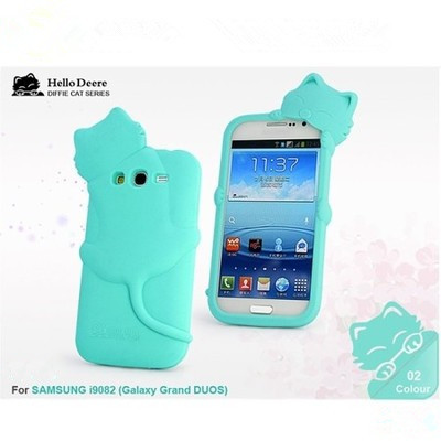 Samsung Galaxy Grand Neo I9060 9060 Hot 3D kiki cat rubber phone back covers case Duos i9082 I9080 9082 dust plug - FT Technology store