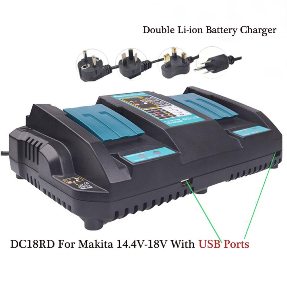 Cncncool double Port USB rapide 3A sortie outil électrique chargeur de batterie pour Makita 14.4 V 18 V BL1415 BL1430 BL1840 BL1830 BL1440