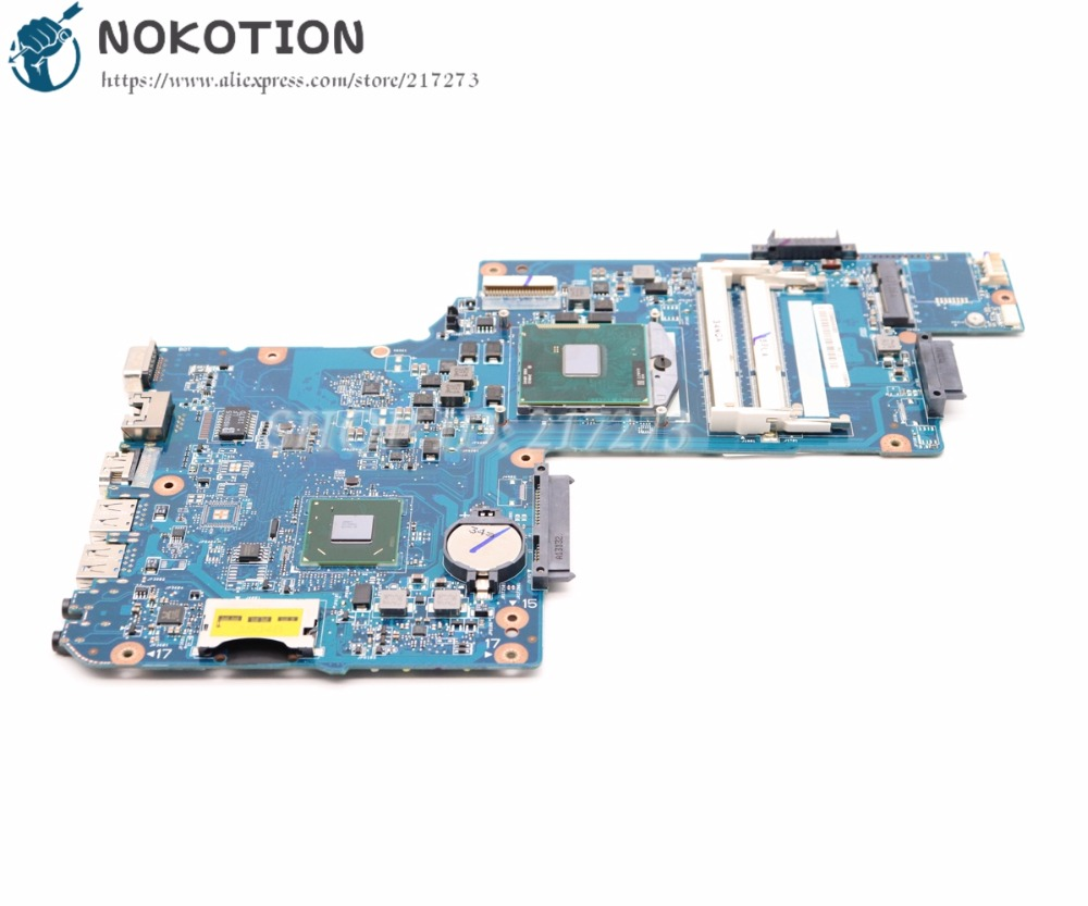 NOKOTION Brand New H000050780 Laptop Motherboard For Toshiba Satellite C850 L850 Main Board SJTNV HM70 DDR3 Free cpu sheli v000275560 laptop motherboard for toshiba satellite c850 c855 l850 l855 6050a2541801 uma hd 4000 hm76 main board works