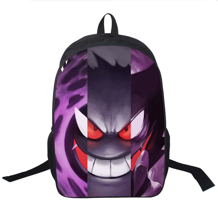 Mr.Weng Purple And Pink Heart Printed Canvas Backpack For Girl and Children