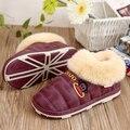 2017 Novos inverno sapatos de algodão Inverno quente Indoor chinelos em casa sapatos de algodão mulheres Neve de algodão sapatos ocupam o casal quente sapatos