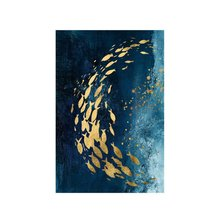 Marine golden group fish painting living room simple Chinese sofa wall bedroom decorative painting mural without frame(China)