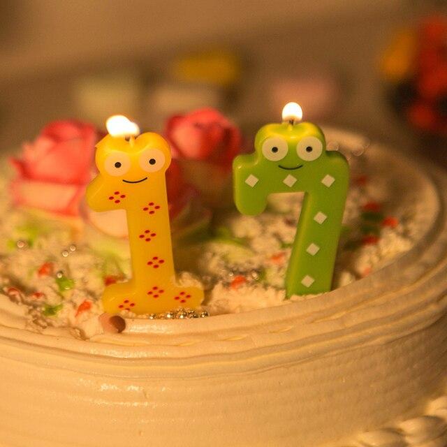 Digital Candles Childrens Large Coloured Creative Birthday Cake CA 0016