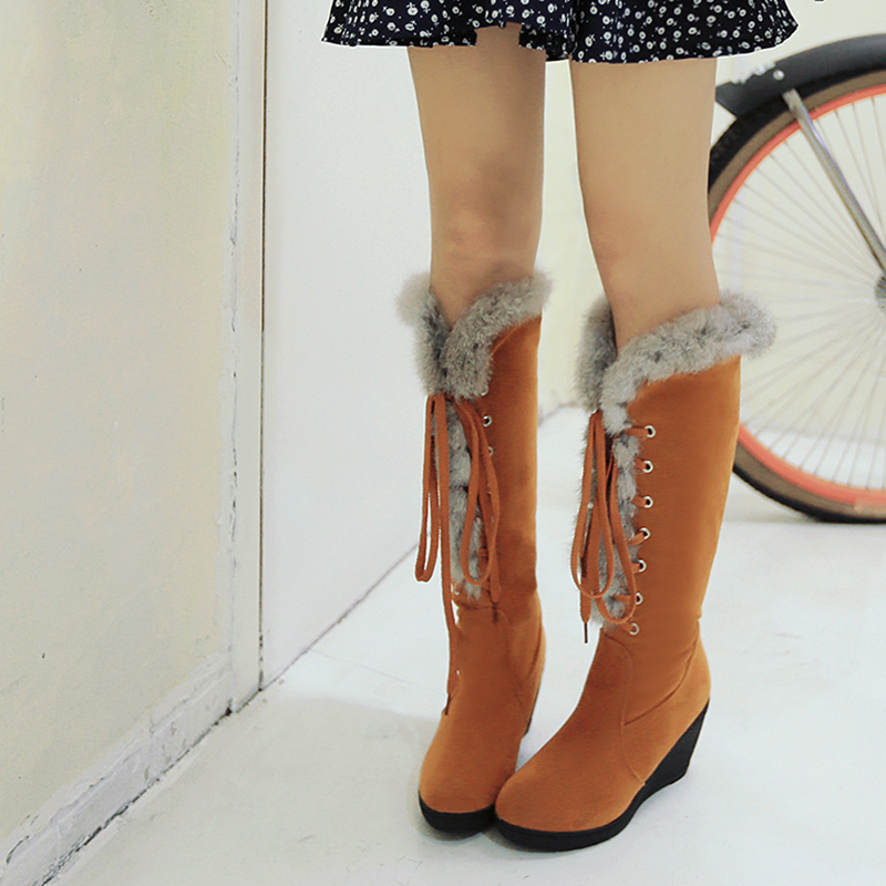 2bd25883c06e Detail Feedback Questions about Taoffen New Women Knee Wedges Boots ...