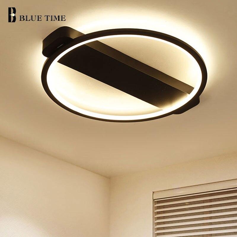 Noir Moderne LED Plafonnier Pour Salon Chambre salle à manger ...