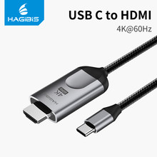 Hagibis USB C к HDMI Тип кабеля-C к HDMI Thunderbolt 3 для MacBook samsung Galaxy S10/S9 huawei Коврики 20 P30 Pro iPad Pro 2018(China)