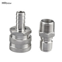 Stainless Steel Quick Disconnect Connect Set for Homebrew Kettle Mash Tun(China)