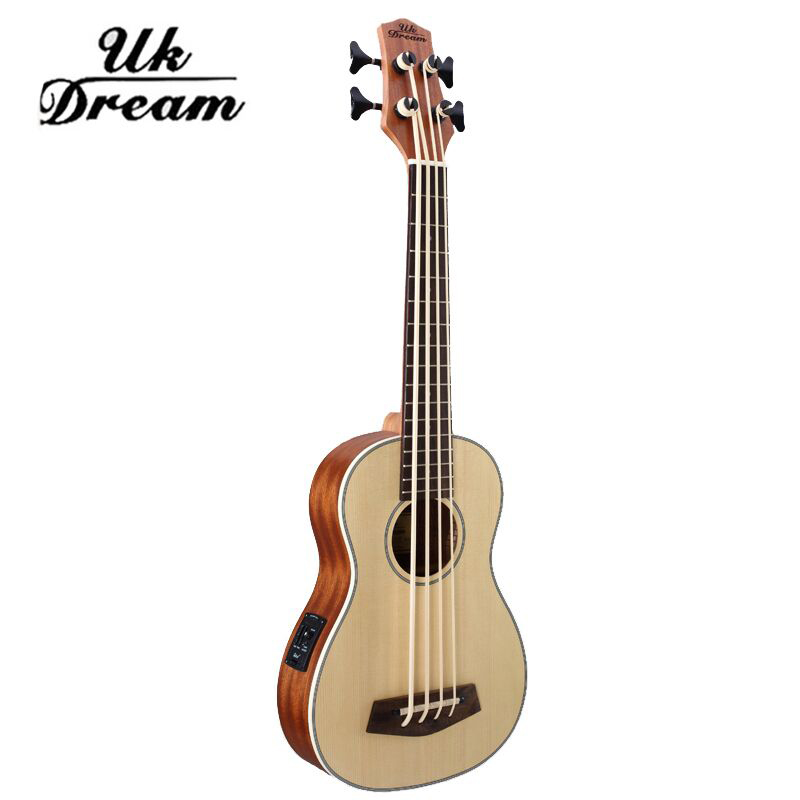 30 inch wooden electrica bass guitar 4 strings ukulele musical instruments professional picea. Black Bedroom Furniture Sets. Home Design Ideas