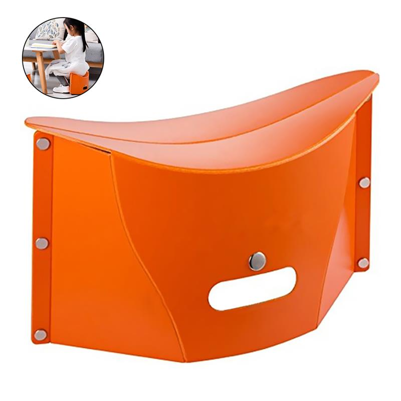 RUNACC Creative Folding Stool Lightweight Small Chair Multi functional Handbag Portable Stools for Indoor and Outdoor Use Orange