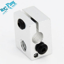 Free shipping! Aluminium Heat Block for  V6 J-head 3D Printer,RepRap Makerbot MK7/MK8 Extruder