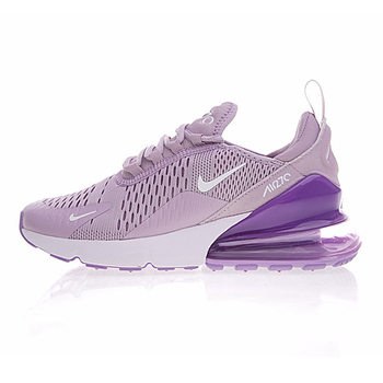 Original New Arrival Authentic Nike Air Max 270 Women's Running Shoes Sneakers Purple White Shock Absorption Non-slip AH8050-510 1