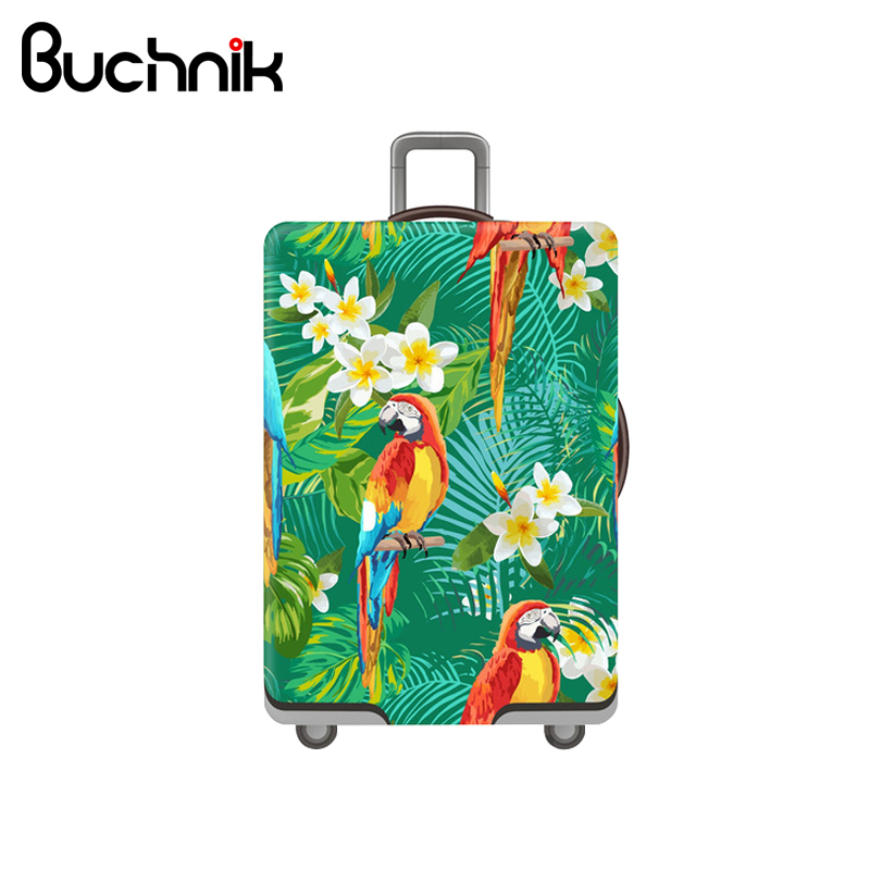 Cute Parrot Luggage Cover Cartoon Travel Essential Elasticity Cover Women's Trolley Suitcase Case Accessories Supplies Product женские кулоны jv серебряный кулон с куб циркониями sp00038 001 wg