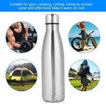 750 мл Вакуумная бутылка для воды из нержавеющей стали, однослойная бутылка для колы, однослойная Спортивная бутылка из нержавеющей стали