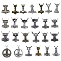 19 Style Thor Hammer Necklace MJOLNIR NORSE VIKING GOD Pendant Thor's Hammer MYTHOLOGY New Pendant Jewelry for Women Men Gifts