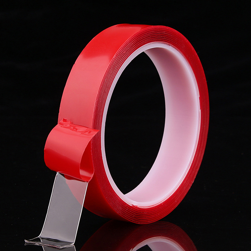 Red Transparent Silicone Double Sided Tape Sticker For Car High Strength Adhesive Sticker Weatherproof Acrylic Mounting Tape