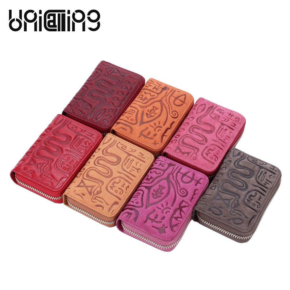 UniCalling prave kože nositelj kreditne kartice modni hijeroglifski - Novčanici