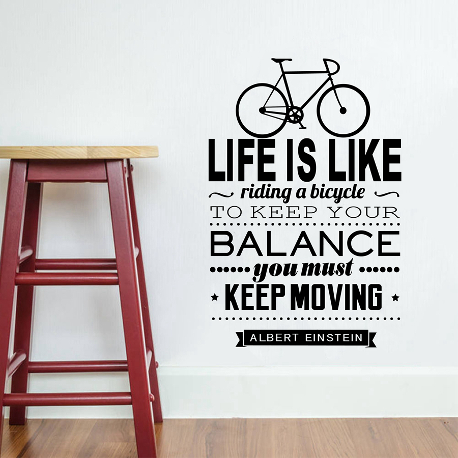 Spanish Wall Decals Life Is Like Riding A Bicycle Espana Vinilos