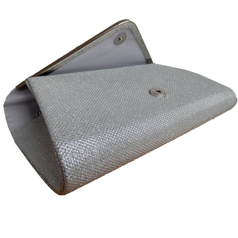 2018 Hot Sale Promotion Day Clutches Black Silver Shoulder V Metal Chain  Design Glitter Shine Bag Elegant Handbag Women Clutch -in Clutches from  Luggage ... 24553870e9a4