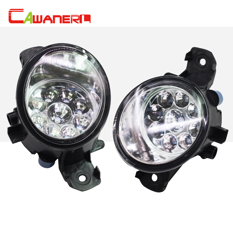 Cawanerl 2 Pieces H8 H11 Car Styling Right + Left Fog Light LED Light DRL Daytime Running Light For Opel Movano B Box 2010-2015 cawanerl for toyota highlander 2008 2012 car styling left right fog light led drl daytime running lamp white 12v 2 pieces