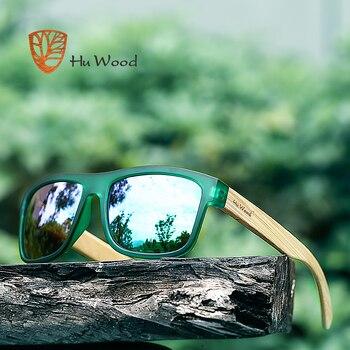 fa2686ea4e HU de madera 2017 nueva llegada mar de tonos gafas de sol para hombres,  gafas de sol de bambú, gafas rojo UV400 lentes de conducción de moda GR8010