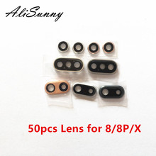 AliSunny 50pcs Back Camera Lens for iPhone 8 Plus X XR XS Max XSM Rear Cam Cover Ringer Frame Cap Seal Glass Len Bracket  Parts