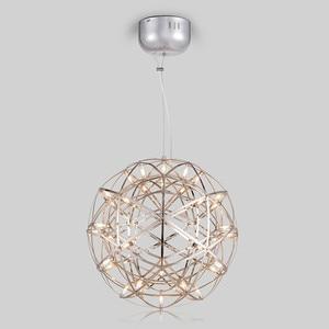 Image 5 - 現代の創造的な花火ペンダントライトバーledステンレス鋼ボール用のランプハンギングコーヒーカフェレストランlamparas光沢デコ