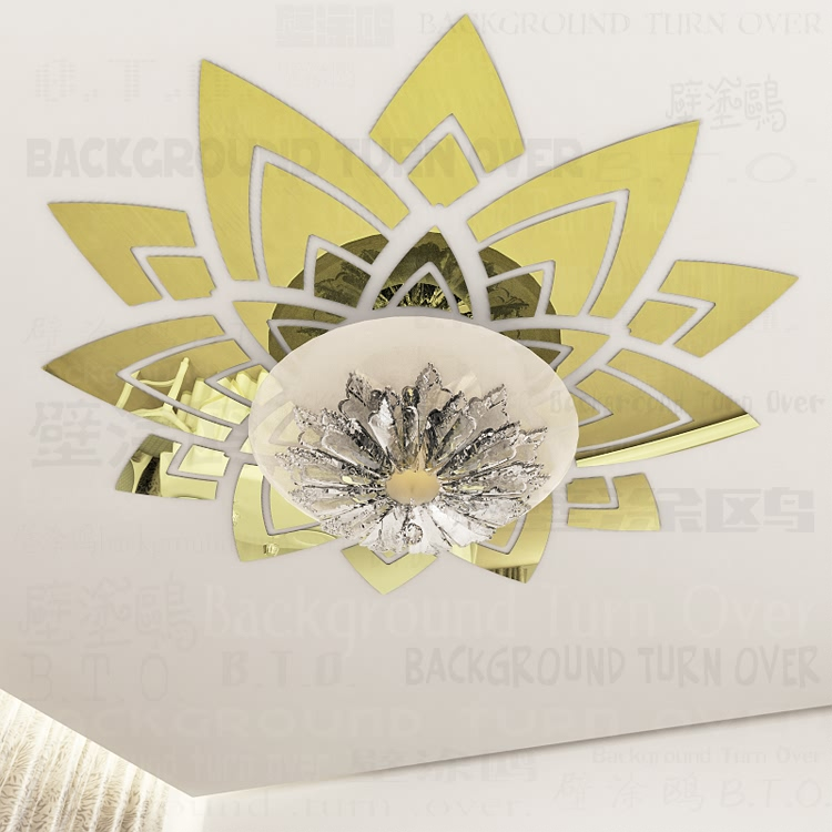 Creative magnificent blossom large flower wall decals ceiling ...