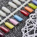 5 Sheets Flatback Color Card Plastic False Nail Tips Practical Manicure Nail Art Practice Display Tools