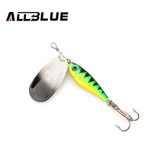 ALLBLUE Long Casting Minnow Super Spinner 9g/13g/18g Spinners Fishing Lure Longcast Artificial Bait 5 Colors Available(China)