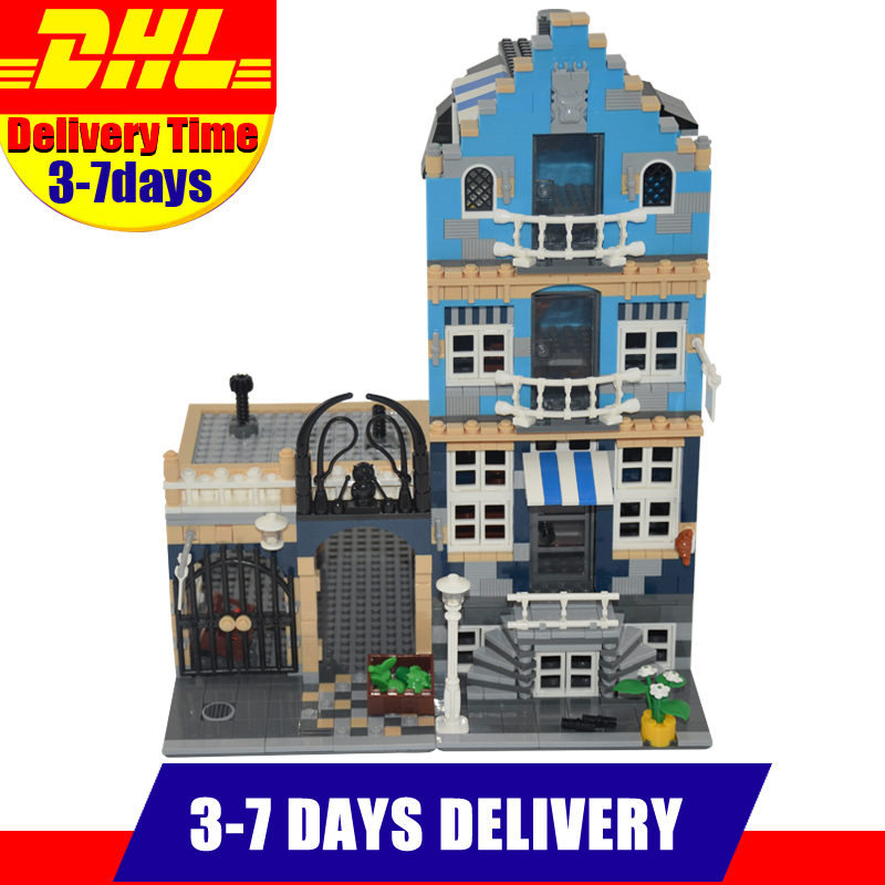 DHL Lepin 15007 Factory City Street European Market Model Building Block Set Bricks Kits Set DIY Clone 10190 a toy a dream lepin 15008 2462pcs city street creator green grocer model building kits blocks bricks compatible 10185