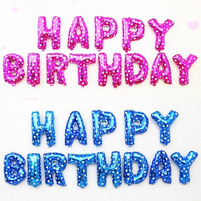 Feliz cumpleaños Globos 16 pulgadas letras globos foil Balloon