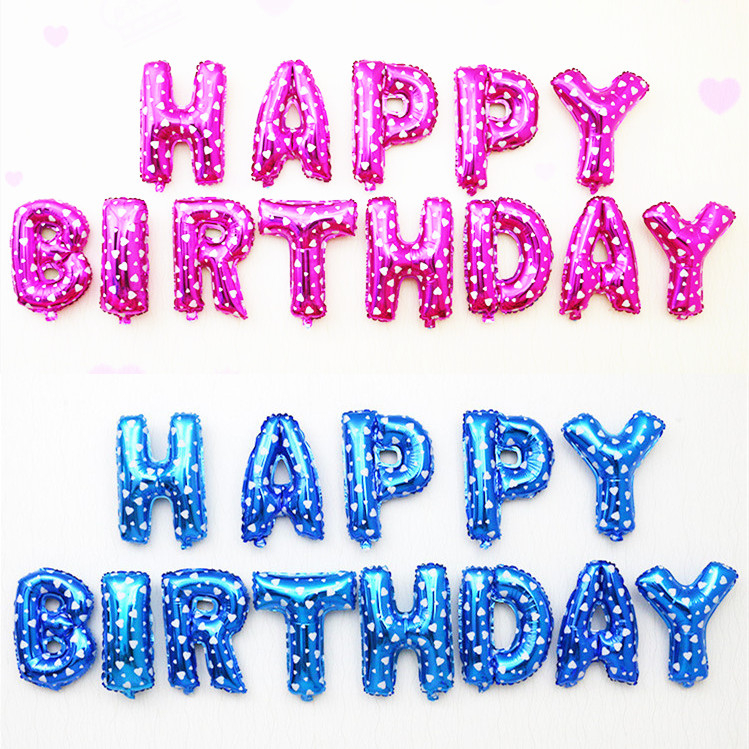 Happy Birthday Balloons 16-inch Letters Ballons Party Foil Balloon Globos Birthd