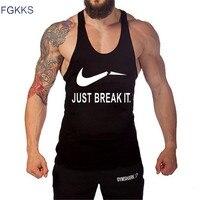 Brand Crossfit Tank Tops 2017 Men Bodybuilding Casual Print Gym Tank Undershirt Muscle Vest Fashion High