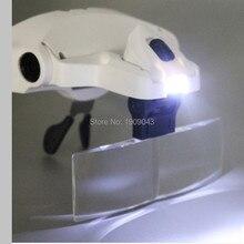 Beauty Tools LED Head Magnifying Glasses For Beauty Salon Eyelash Extensions Adjustable 5 Lens 1.0X1.5X2.0X2.5X3.5X Headlamp