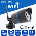 Câmera de segurança wi-fi ip 720 P 1MP HD dia e noite visão ao ar livre à prova d' água ip65 motion detection tf slot para cartão de vídeo replay registro