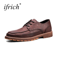 Ifrich Hot Sale Formal Dresses Wine Brown Mens Pointed Toe Dress Shoes Summer Autumn Comfortable Lace