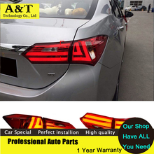 A&T car styling New Rear Light for Toyota Corolla 2014 led Tail Lights Altis Lamp DRL Trunk Cover Signal+Brake+Reverse Car Styli