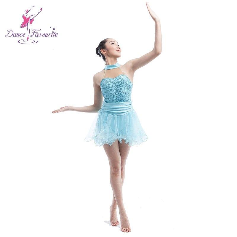 women Ballet Contemporary   Lyrica dress ballerina ballet dance costume  dress pale blue ballet dress girl dance ballet skirt-in Ballet from Novelty  ... 70809a8f29c4