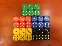 22MM rounded a small number of color dice, dice, 22 old man special dice